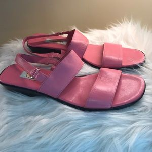 Talbot pink sandals made in Spain. Size 8